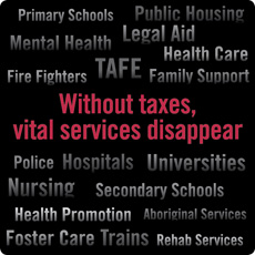 Without taxes, vital services disappear